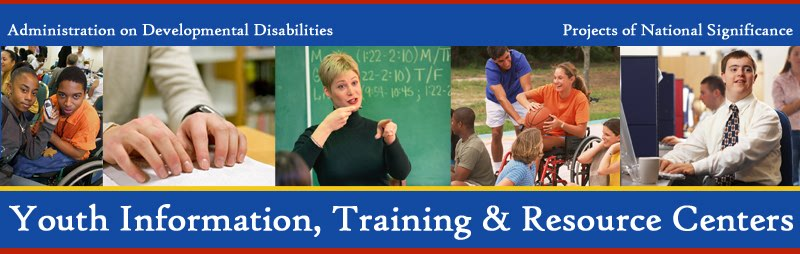 Youth Information, Training, and Resource Centers Logo with images of individuals with disabilities