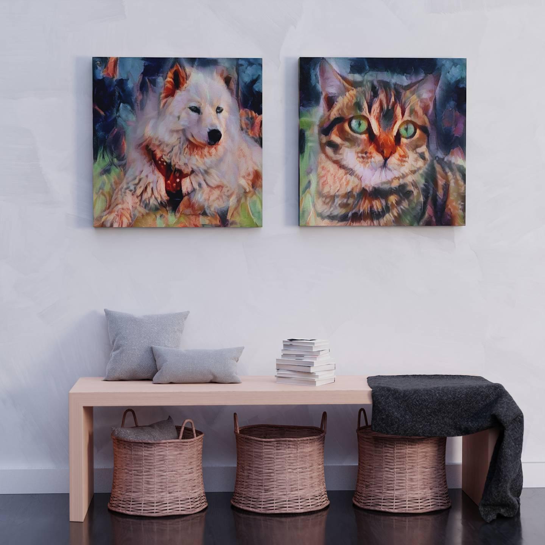 Digital Pet Portraits Art in a sec